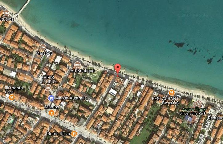 Afroditi Beach Grcka Kasandra Pefkohori Letovanje Olimpturs Lokacija