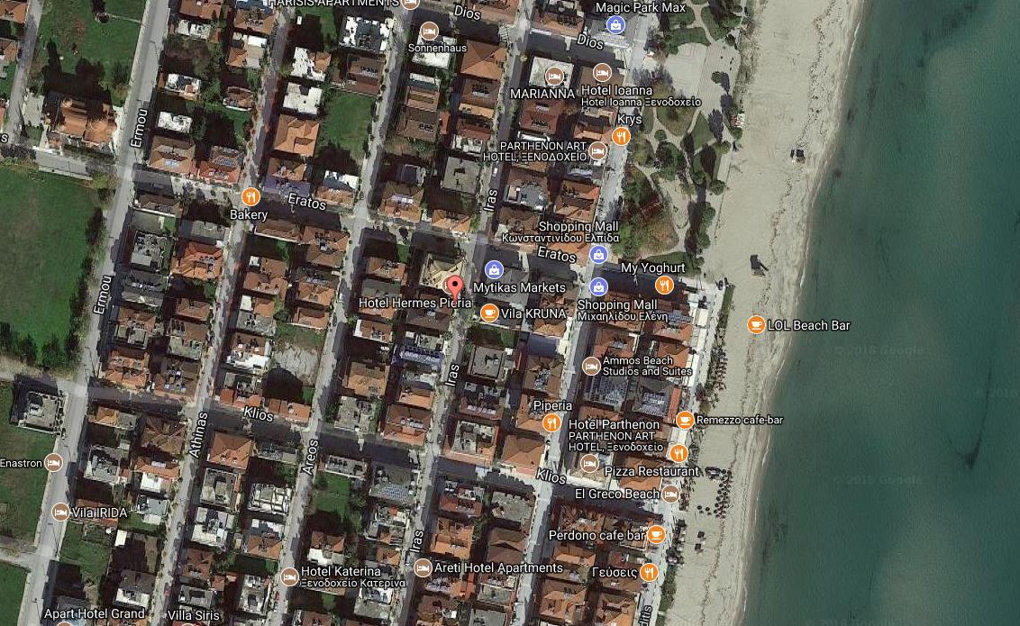 App Hotel Max Holidays Grcka Olimpska Regija Olympic Beach Letovanje Olimpturs Lokacija