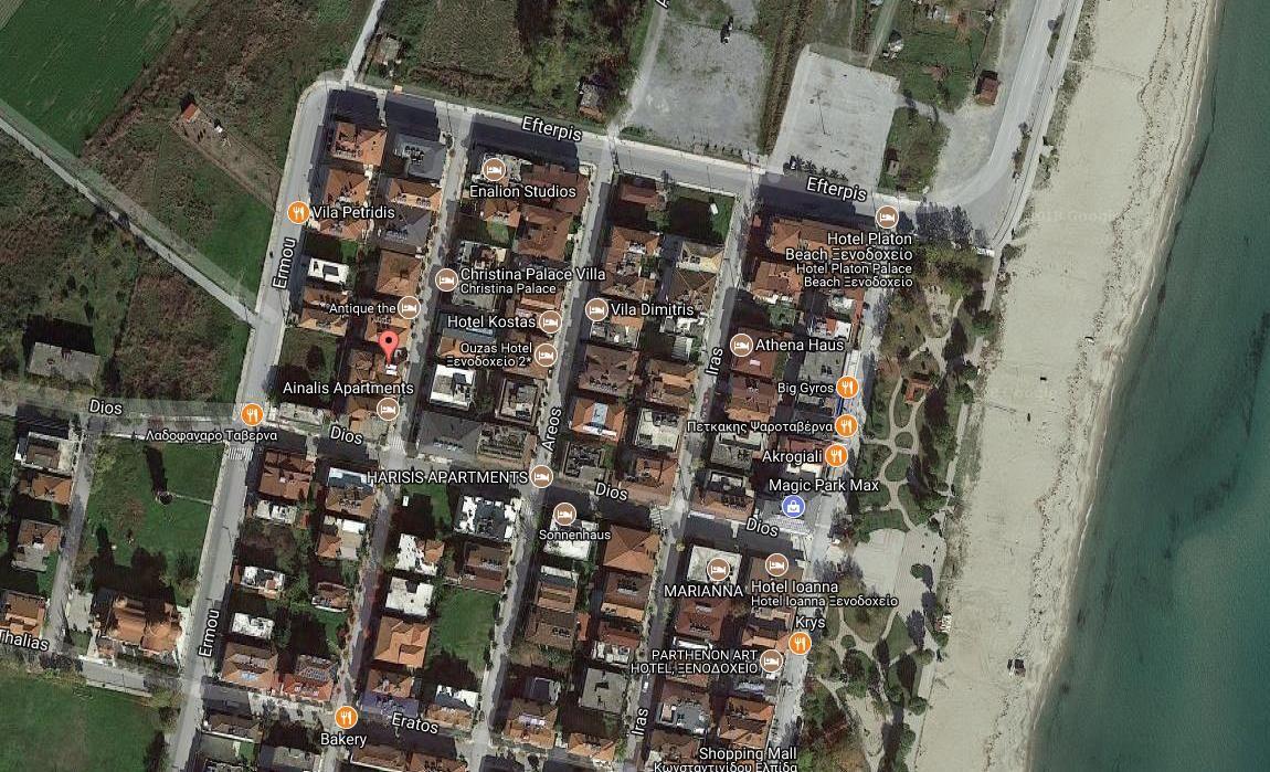 App Hotel Olga Grcka Olimpska Regija Olympic Beach Letovanje Olimpturs Lokacija