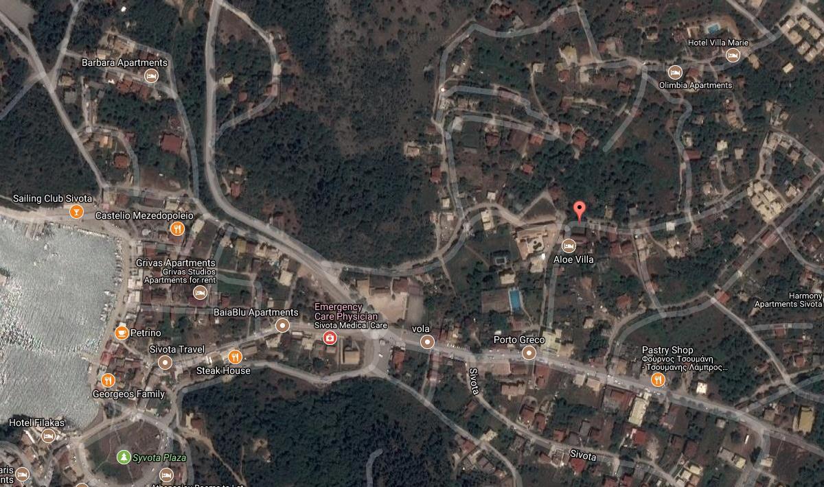 Armoniades Grcka Jonska Regija Sivota Letovanje Olimpturs Lokacija