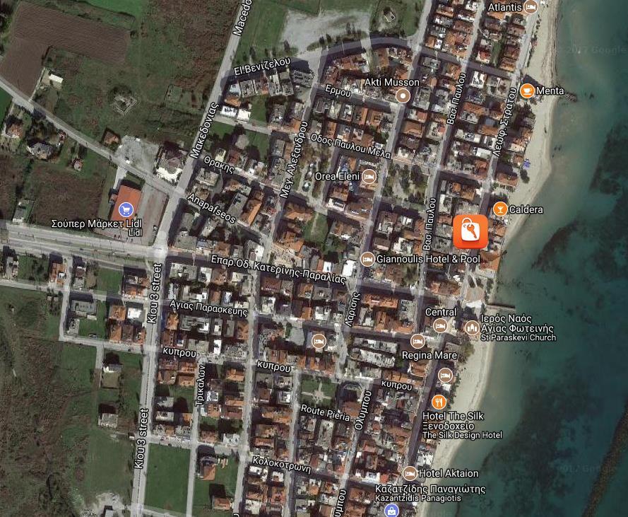 Electra Beach Grcka Olimpska Regija Paralia Letovanje Olimpturs Lokacija