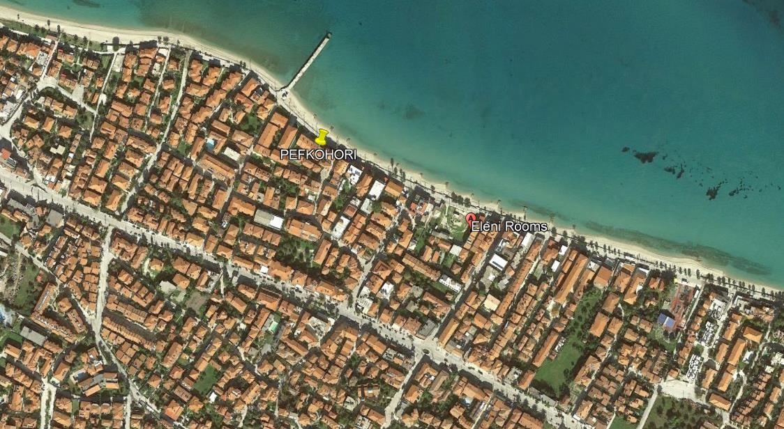 Eleni Beach Grcka Kasandra Pefkohori Letovanje Olimpturs Lokacija