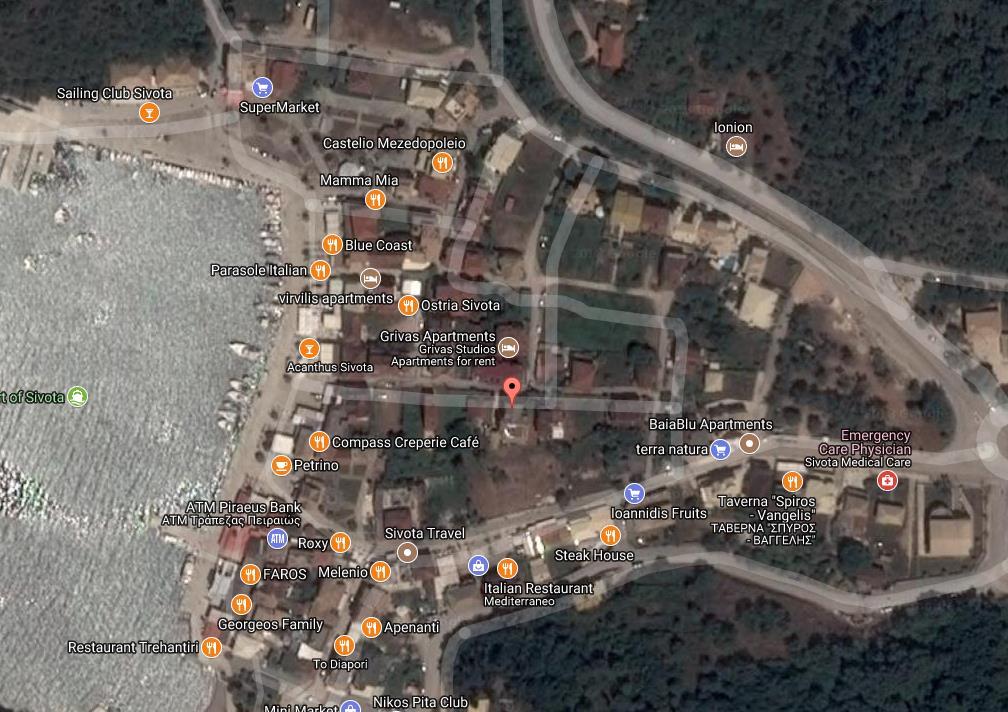 Fotini Grcka Jonska Regija Sivota Letovanje Olimpturs Lokacija