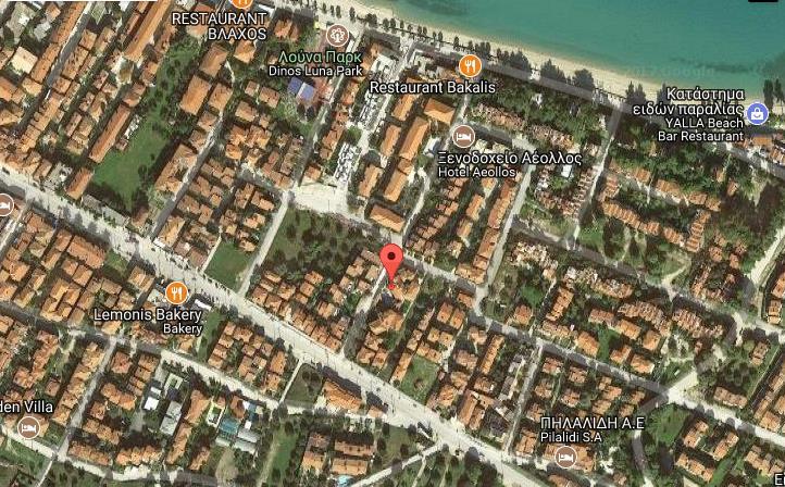 Hotel Ammon Garden Grcka Kasandra Pefkohori Letovanje Olimpturs Lokacija