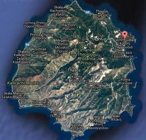 Ilias Luxury Tasos Grcka Letovanje Olimpturs Lokacija