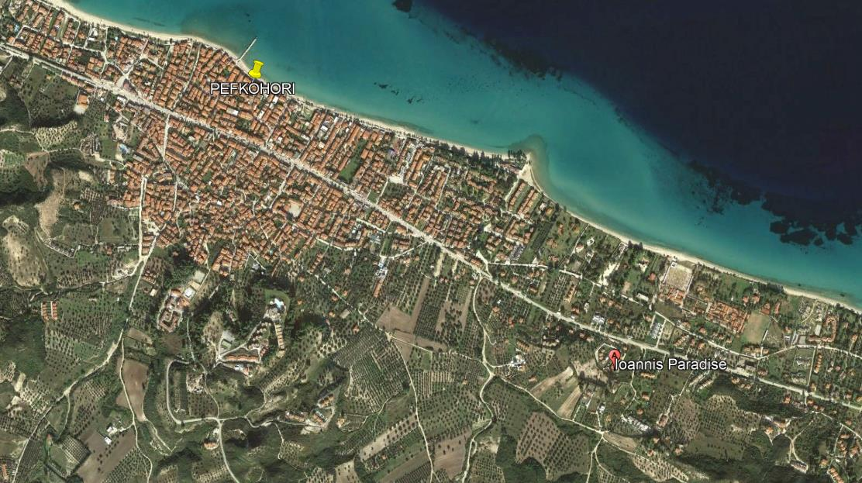 Ioannis Paradise Grcka Kasandra Pefkohori Letovanje Olimpturs Lokacija
