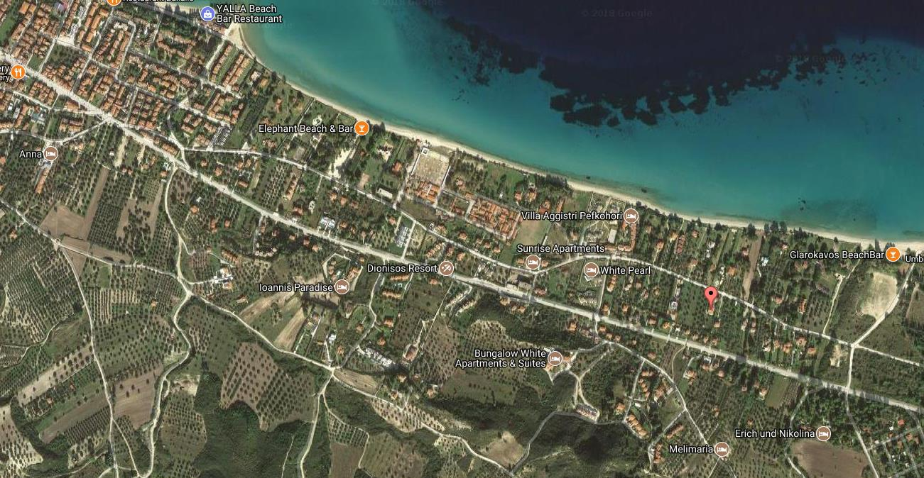 Kiki Resort Grcka Kasandra Pefkohori Letovanje Olimpturs Lokacija