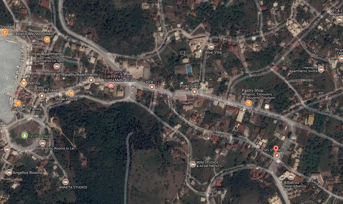 Loutsis Grcka Jonska Regija Sivota Letovanje Olimpturs Lokacija