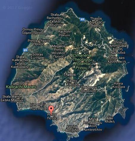 Meandros Tasos Grcka Letovanje Olimpturs Lokacija