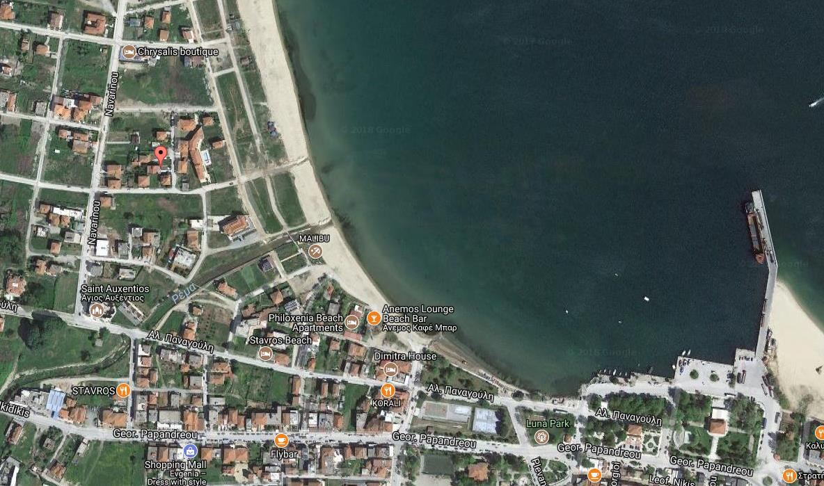 Niki Stavros Regija Sv Djordja Grcka Letovanje Olimpturs Lokacija