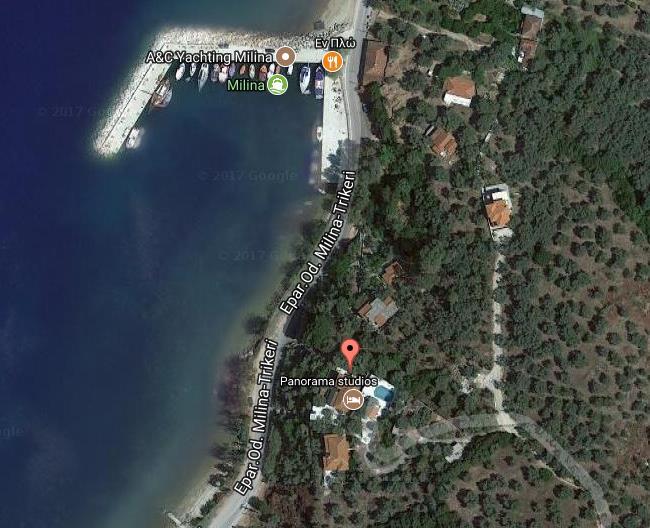Panorama Milina Pilion Grcka Letovanje Olimpturs Lokacija