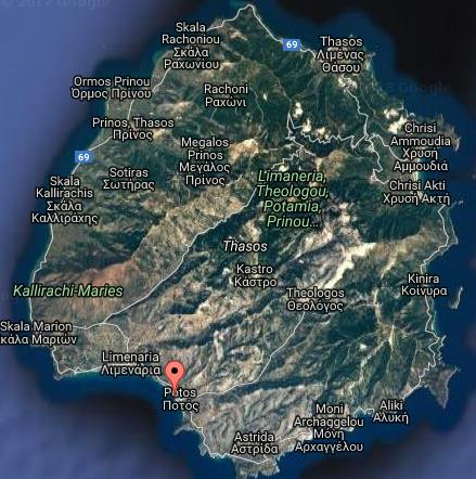 Papaikonomu Tasos Grcka Letovanje Olimpturs Lokacija