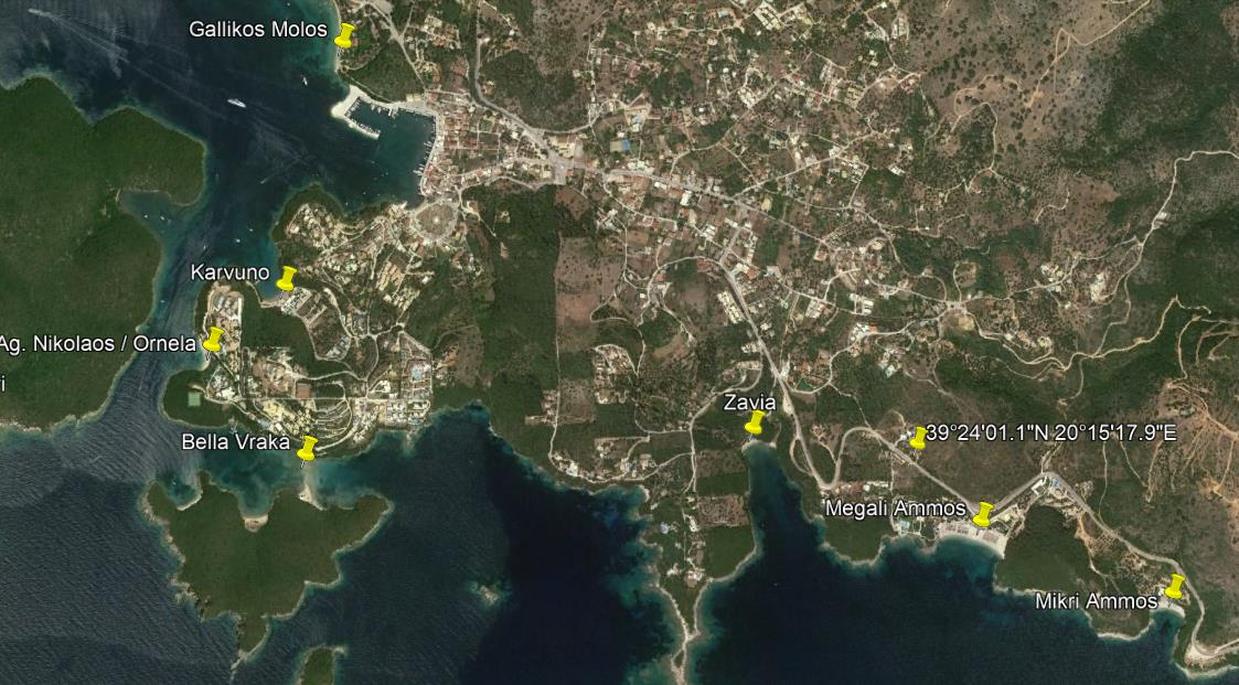 Poseidon Grcka Jonska Regija Sivota Letovanje Olimpturs Lokacija