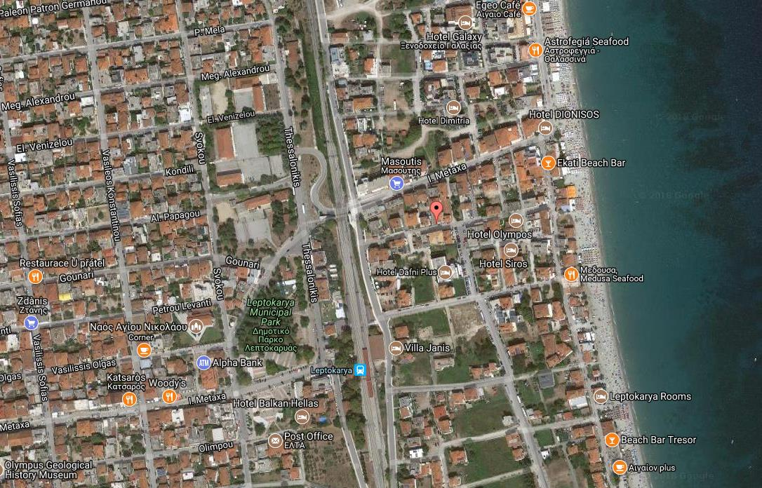 App Hotel Apolon Grcka Olimpska Regija Leptokarija Letovanje Olimpturs Lokacija