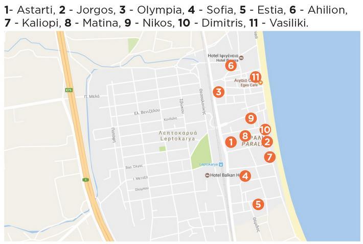 Grcka Olimpska Regija Leptokarija Letovanje Olimpturs Lokacija
