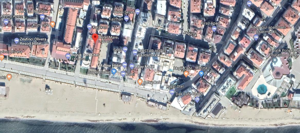 Hotel Mare Turska Sarimsakli Letovanje Olimpturs Lokacija