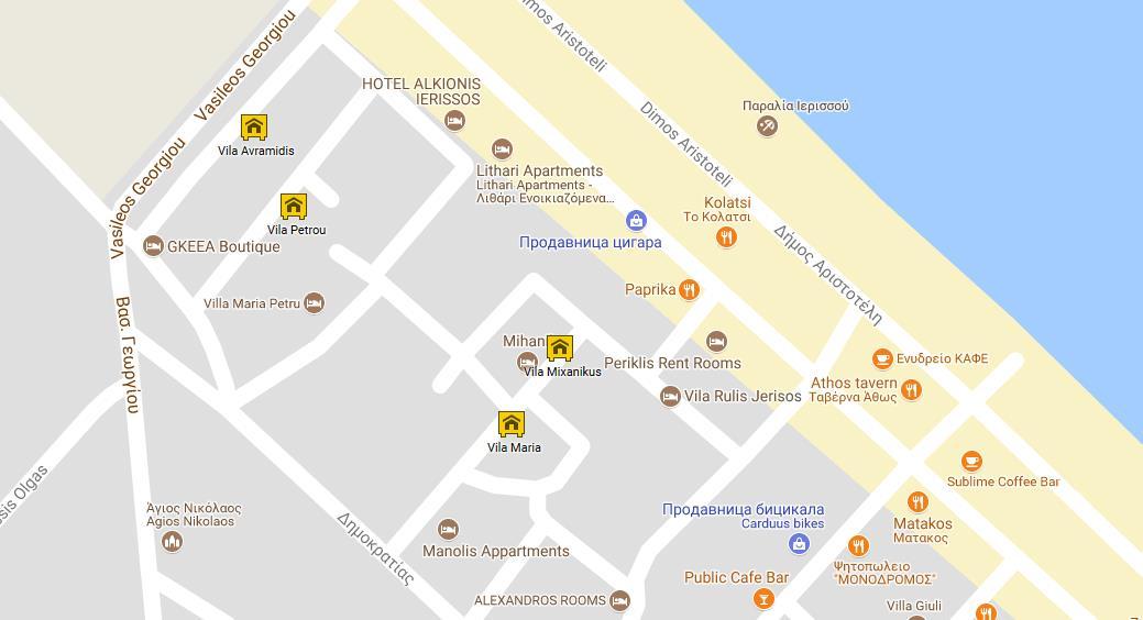 Mixanikus Grcka Atos Jerisos Letovanje Olimpturs Lokacija