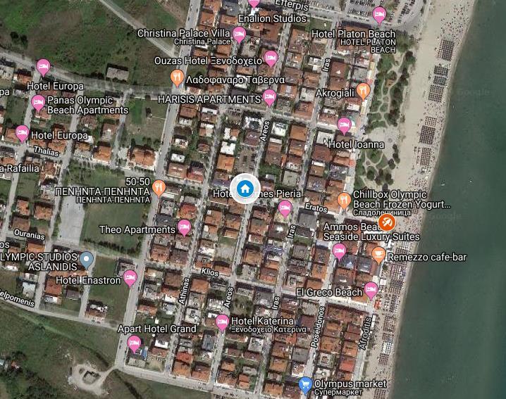 Vanko Grcka Olimpska Regija Olympic Beach Letovanje Olimpturs Lokacija